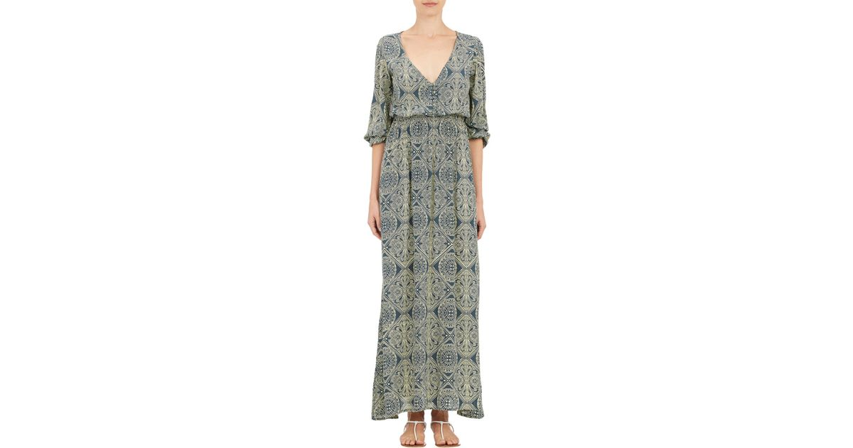 6c63a2b83ec Natalie Martin Medallion-print April Maxi Dress in Blue - Lyst