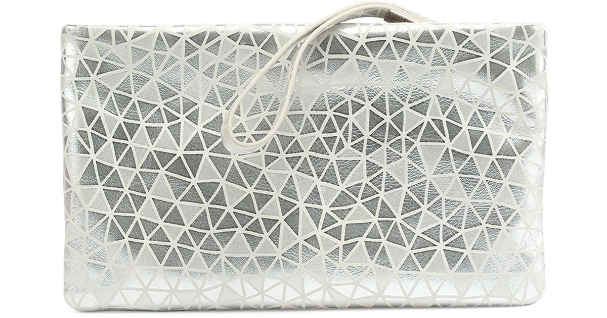 a57667e1edc1 Lyst - Roger Vivier Prismick Suede Pochette Bag in Metallic