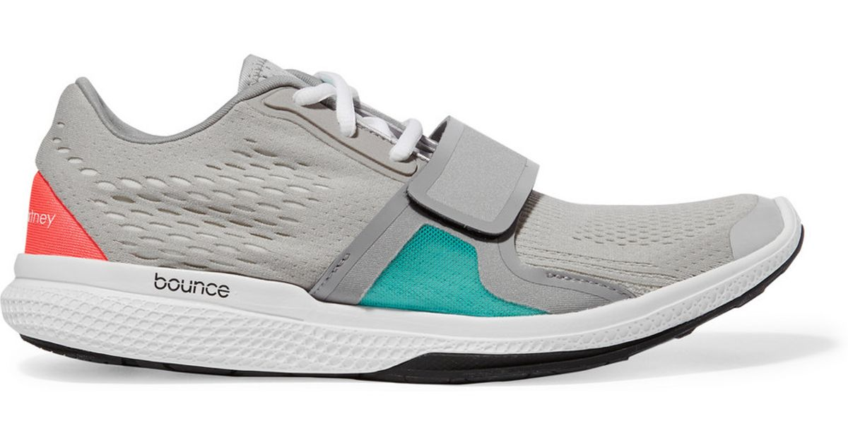 more photos bfb8a 6fa9b Adidas By Stella Mccartney Atani Bounce Mesh-paneled Neoprene Sneakers in  Gray - Lyst