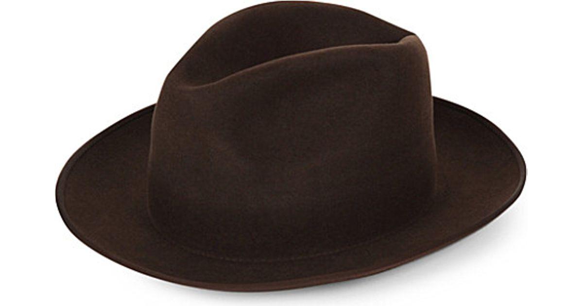 0b4d1d781ed497 SuperDuper Hats Gora Rabbit Felt Hat in Brown for Men - Lyst