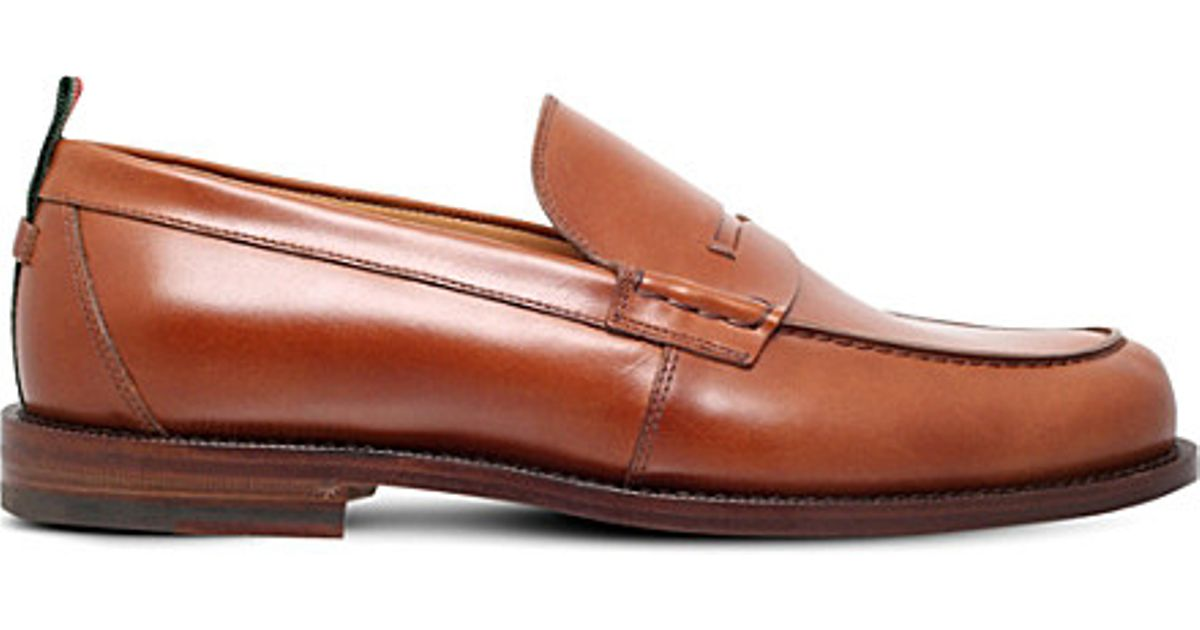 1720f4c4d91 Lyst - Gucci Tobias Leather Penny Loafers in Brown for Men