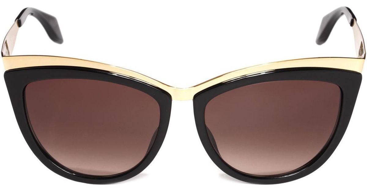 2c786fdbbc Alexander Mcqueen Metal Brow Cat Eye Sunglasses in Metallic for Men - Lyst