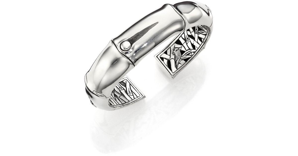 John Hardy Bamboo Sterling Silver Kick Cuff Bracelet In
