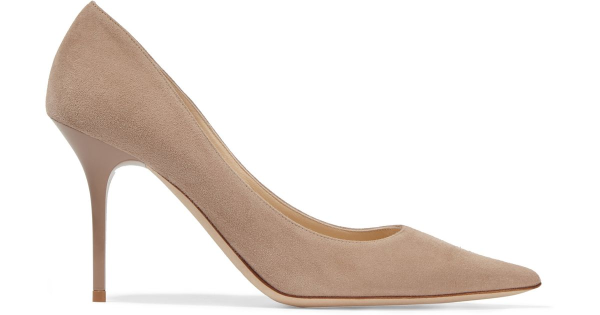 4c2564feb707 Lyst - Jimmy Choo Agnes Suede Pumps in Natural