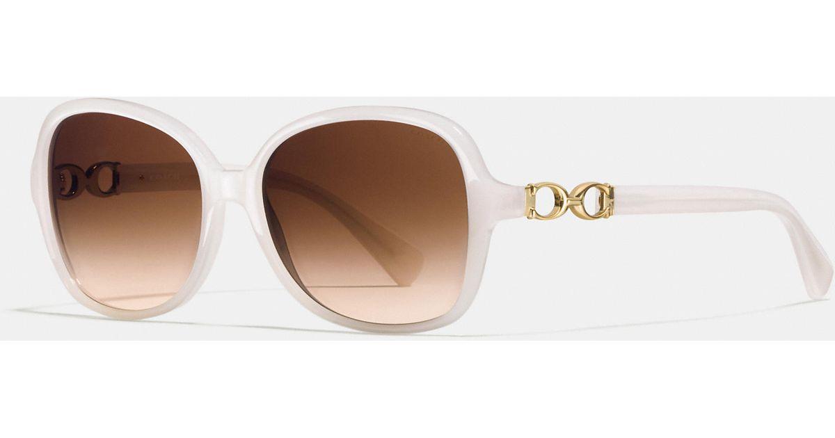 8e79c728498c7 ... order lyst coach cole sunglasses in white e4f28 36d64