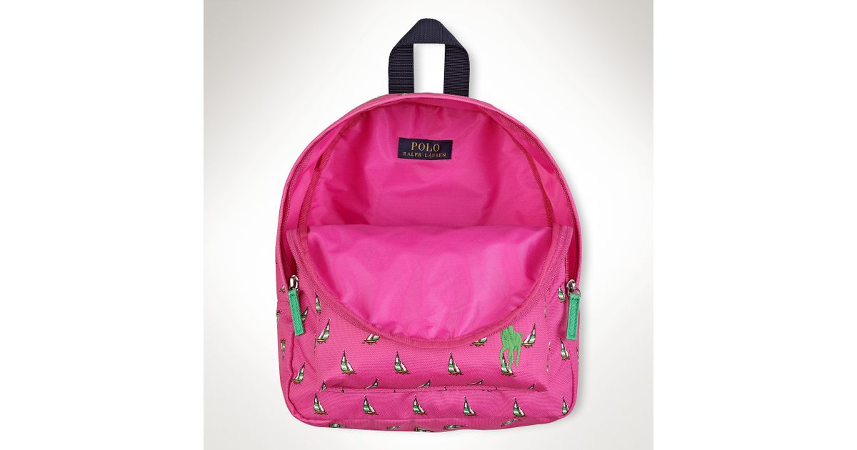 Ralph Lauren Small Big Pony Backpack in Pink - Lyst 045a390fc590a