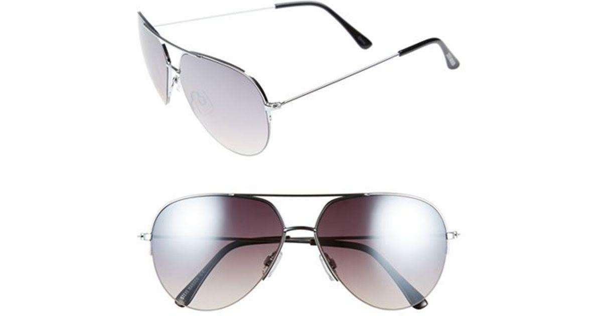 7909d419d2c30 Steve Madden Semi Rimless Mirrored Aviator Sunglasses in Metallic - Lyst