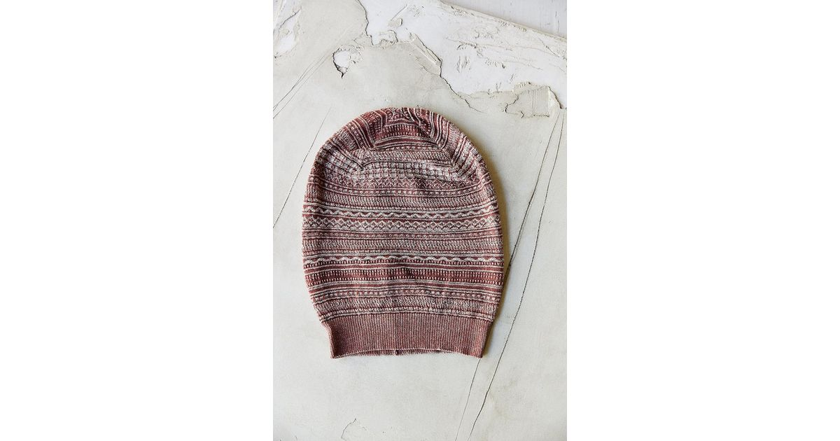 9d06137afdd Lyst - Urban Outfitters Nordic Slouchy Beanie in Brown for Men