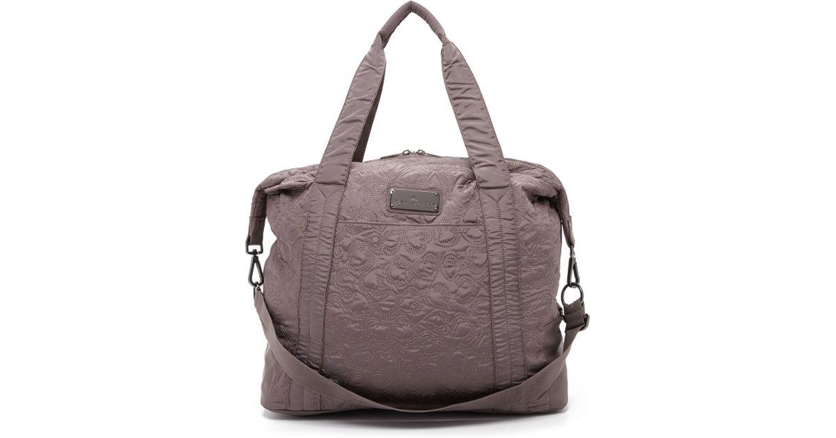 33ba75b4d7 Lyst - adidas By Stella McCartney Oversized Gym Bag in Gray