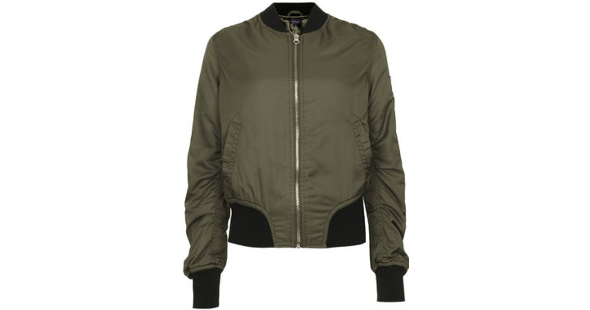 2160d1f90bc Lyst - TOPSHOP Tall Ultimate Ma1 Bomber Jacket in Green