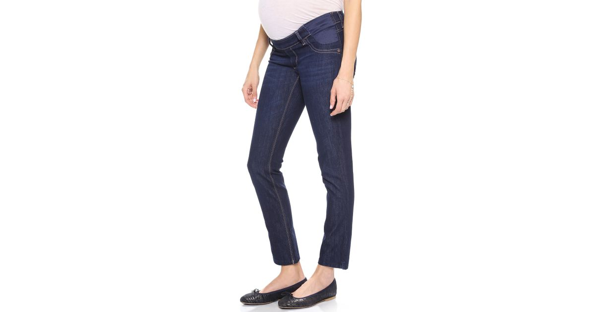 b1f07cec4be8b DL1961 Angel Maternity Ankle Jeans in Blue - Lyst
