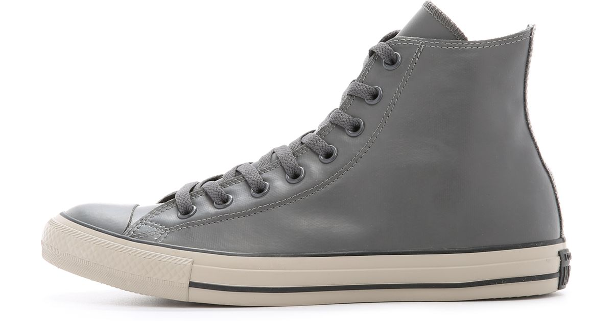 Lyst - Converse Chuck Taylor All Star Rubber High Top Sneakers in Black for  Men