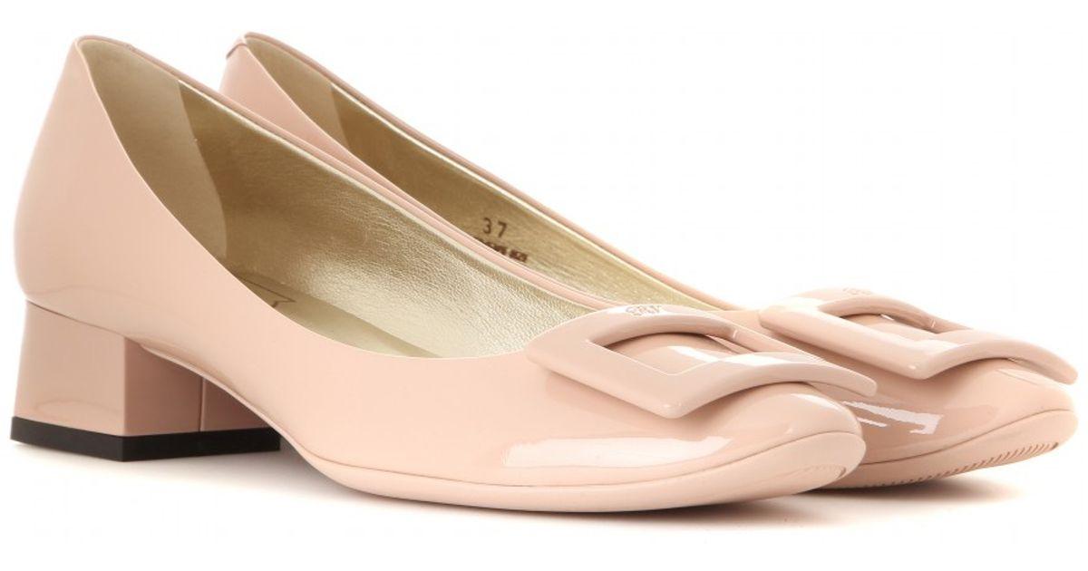 Pink Roger Lyst Patent In Belle De Pumps Nuit Vivier Leather P6qOw7S
