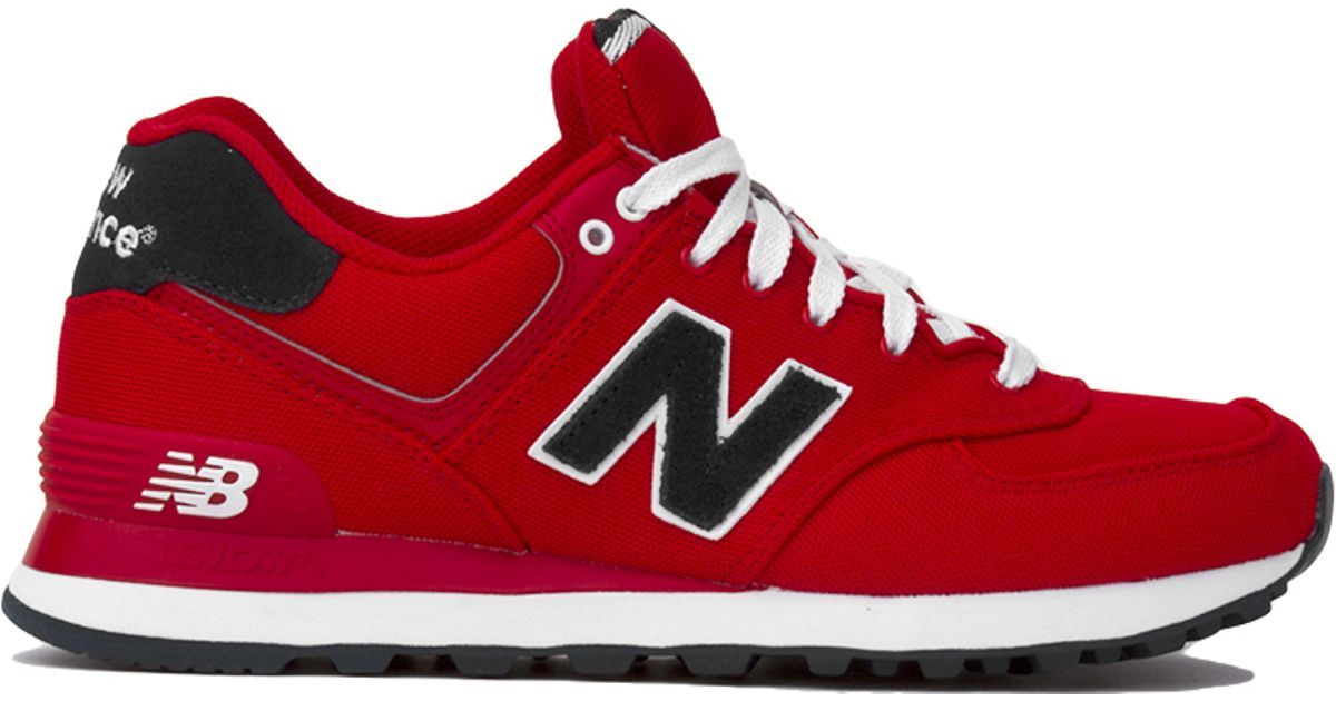 best service 2ebc7 fbf1e New Balance Woven 574 Sneakers In Red in Red - Lyst