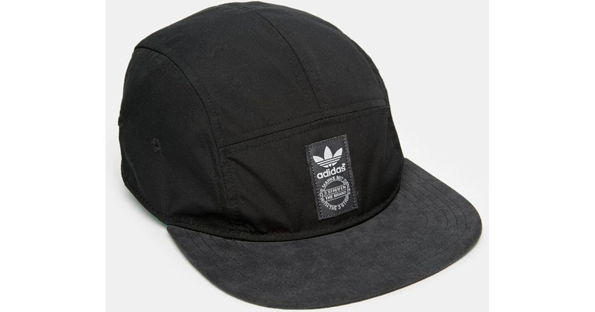 Lyst - adidas 5 Panel Snapback Cap in Black for Men 2ba09f2aa3a