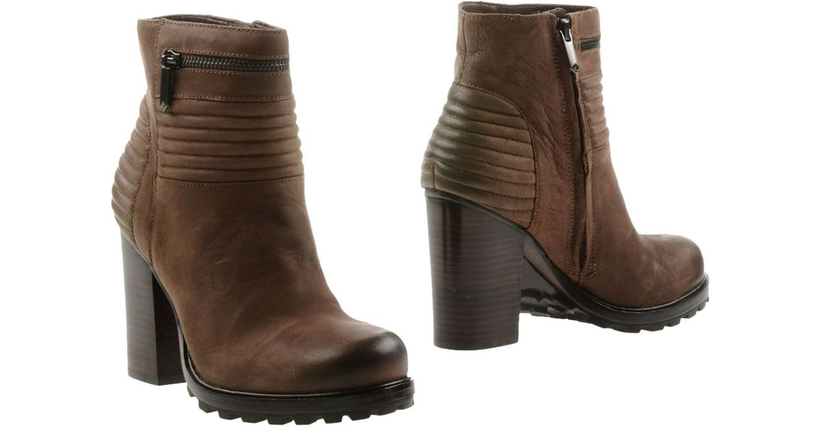 sam edelman ankle boots in brown lyst