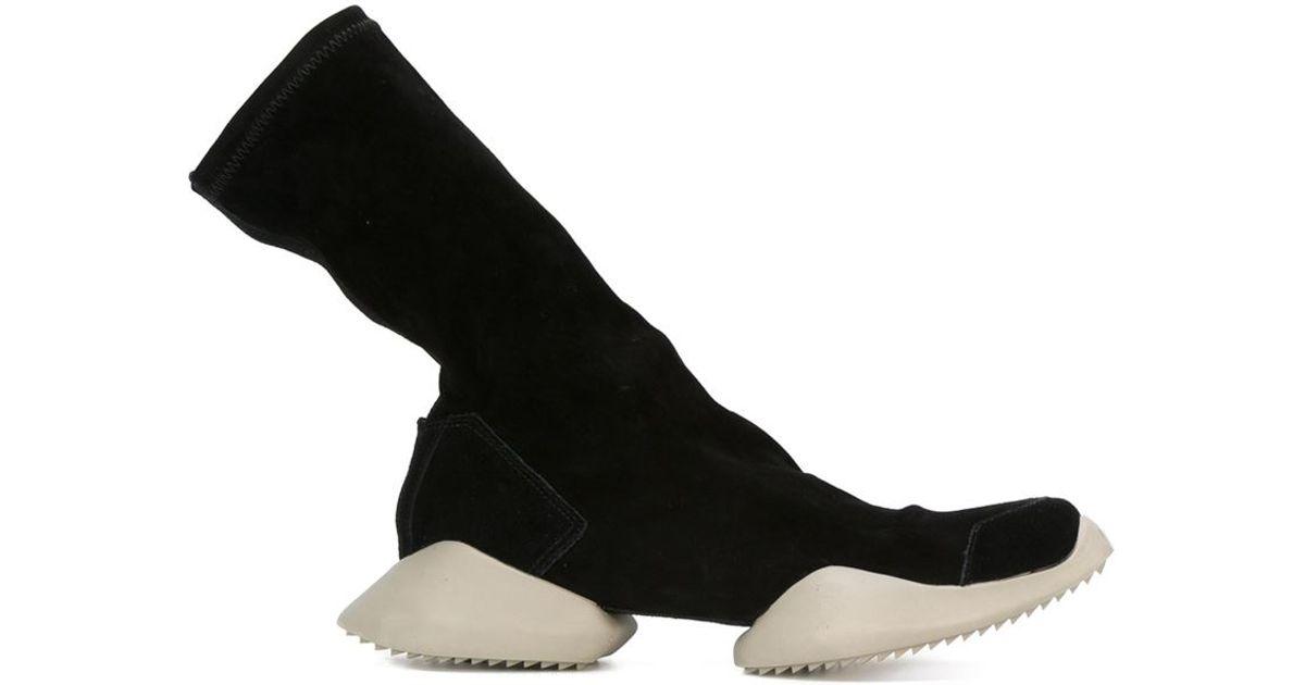 3c8cc5f00a4 Lyst - Rick Owens X Adidas  tech Runner  Boots in Black