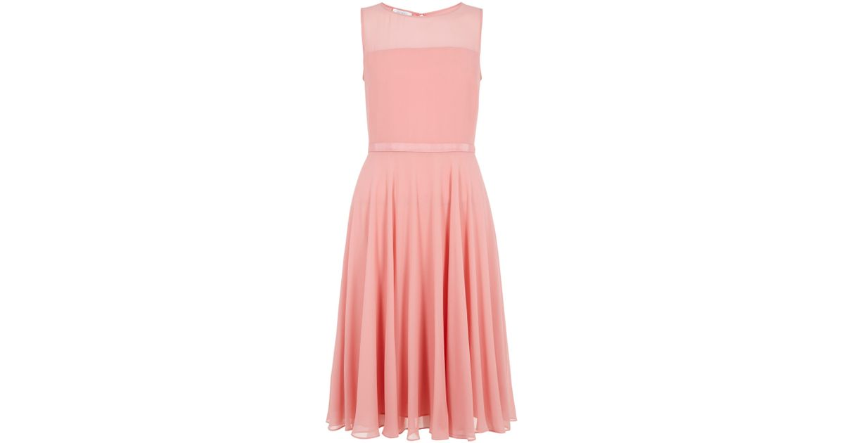 Hobbs Invitation Abigale Dress in Pink - Lyst