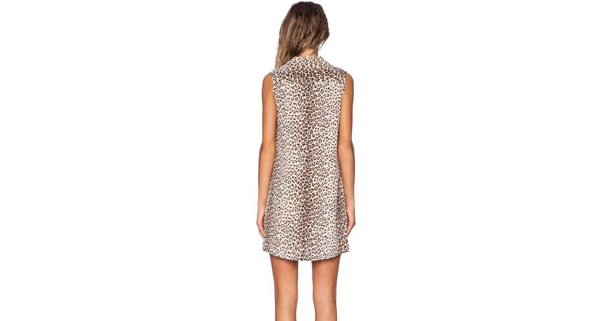 d9ebed4d4e28cc Lyst - Equipment Lucida Sleeveless Leopard Print Dress