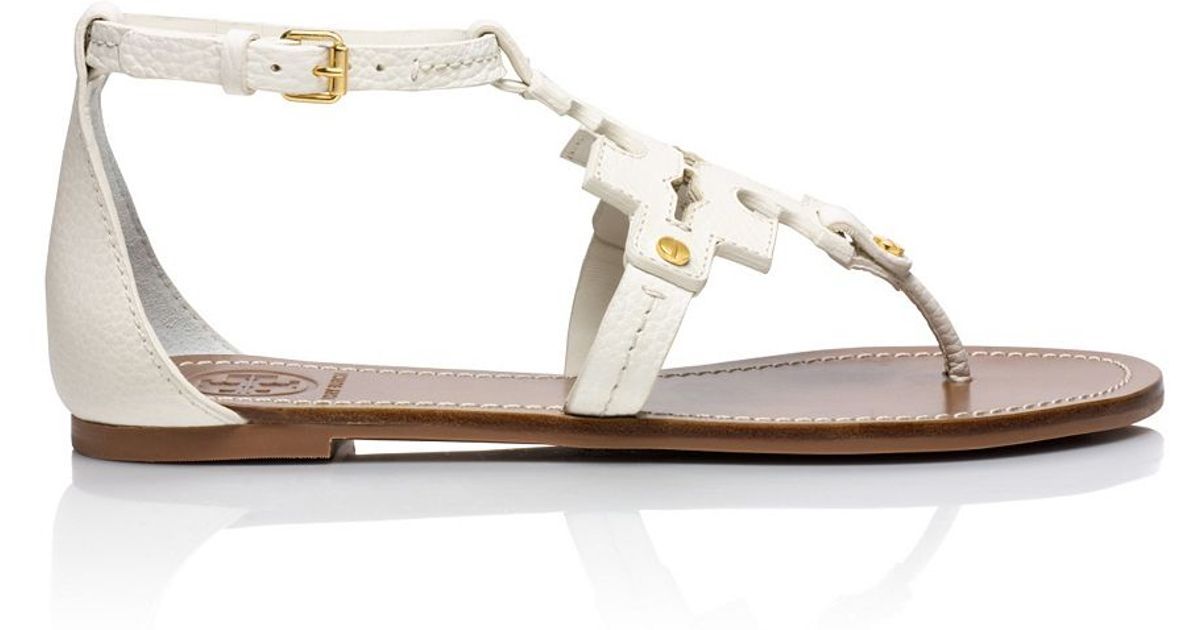 e42b834f485 ... new zealand lyst tory burch phoebe flat thong sandal in white 2277f  378f9