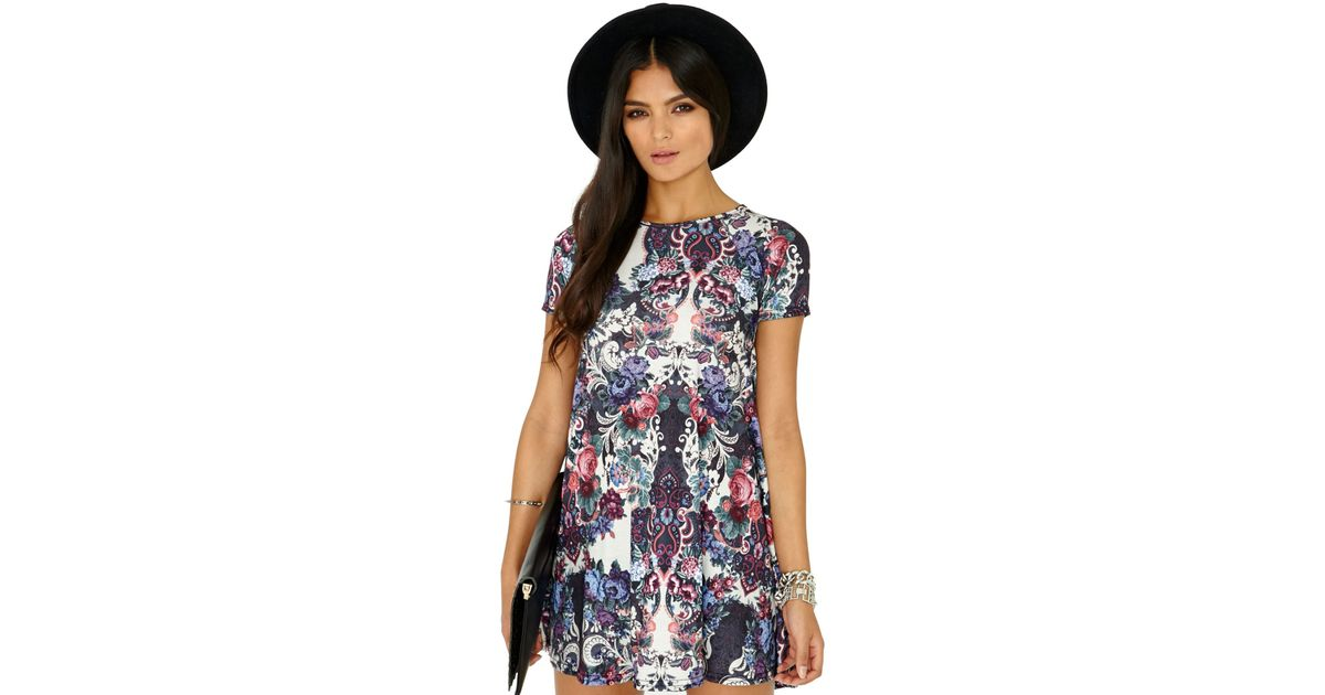 Flower Print Short Dress