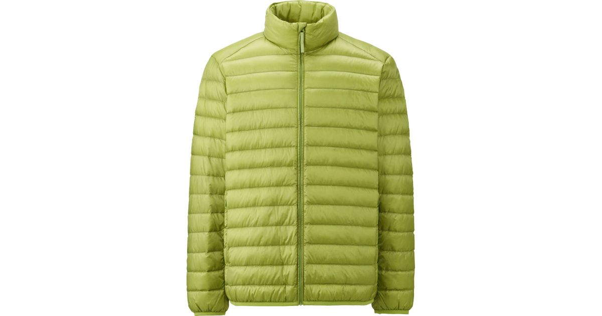 uniqlo men ultra light down jacket in green for men lyst. Black Bedroom Furniture Sets. Home Design Ideas