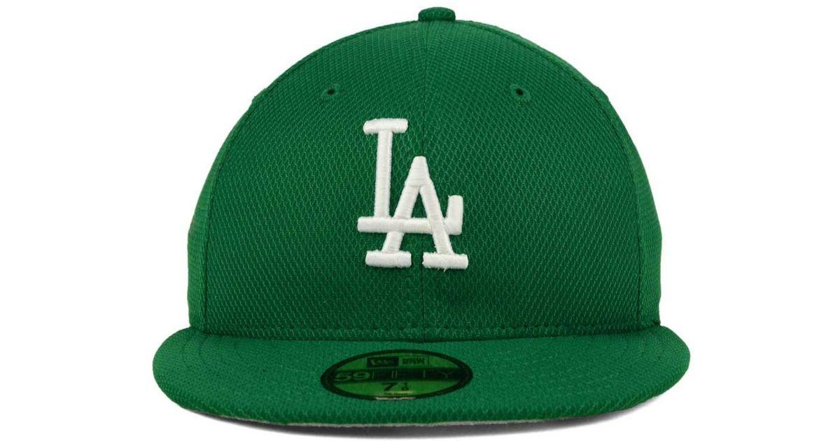 453bda87fc4181 Lyst - KTZ Los Angeles Dodgers St. Patty's Diamond Era 59fifty Cap in Green  for Men