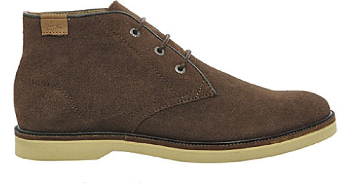 fbb7eec52 Lacoste Sherbrooke Suede Boots in Brown for Men - Lyst