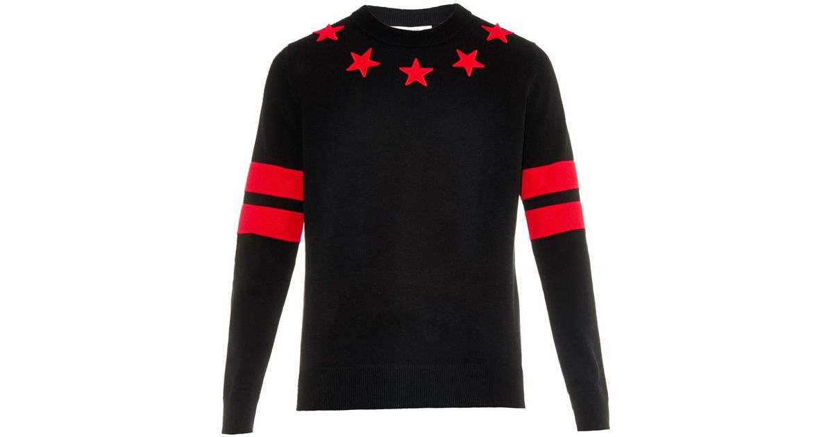 Givenchy Star And Stripes Cotton Sweater in Red for Men | Lyst