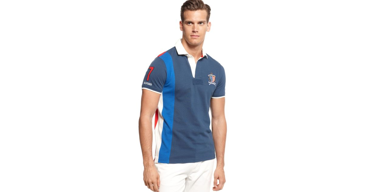 5881aa7c9 Tommy Hilfiger Usa World Cup Slimfit Polo European Collection in Blue for  Men - Lyst