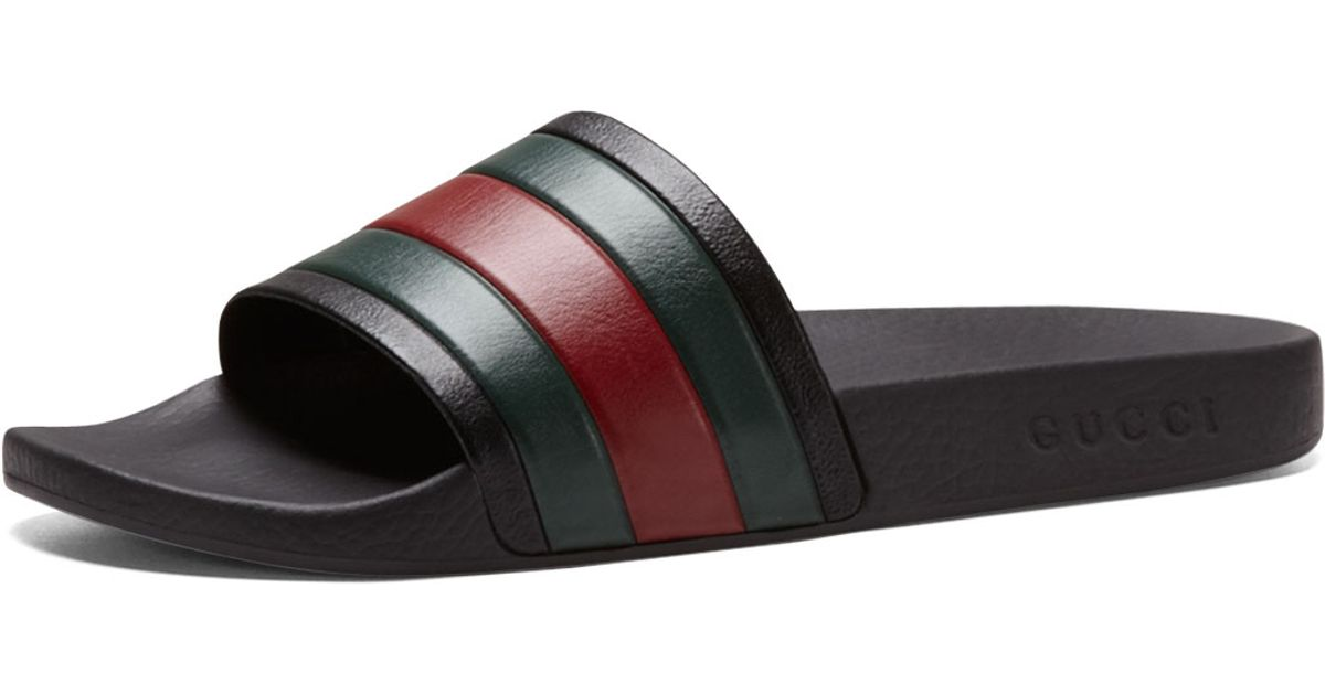 2da693ca7b4 Lyst - Gucci Pursuit  72 Rubber Slide Sandal in Black for Men