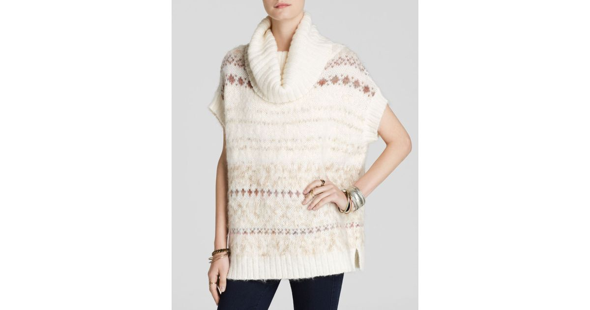 Lyst - Free people Sweater Vest - Snow Bunny Fair Isle Turtleneck ...
