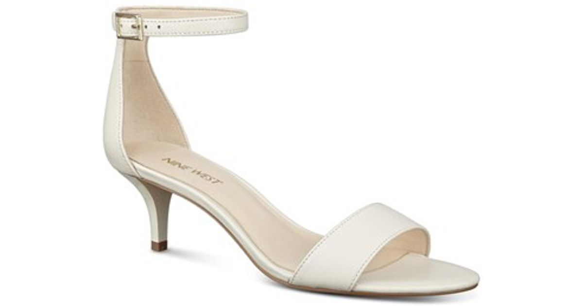 Nine West Leisa Ankle Strap Sandal In White Lyst