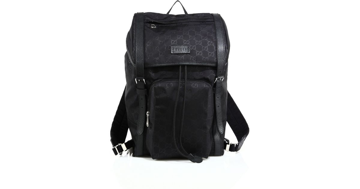 53fc2c1d18d6 Lyst - Gucci Nylon Sima Backpack in Black