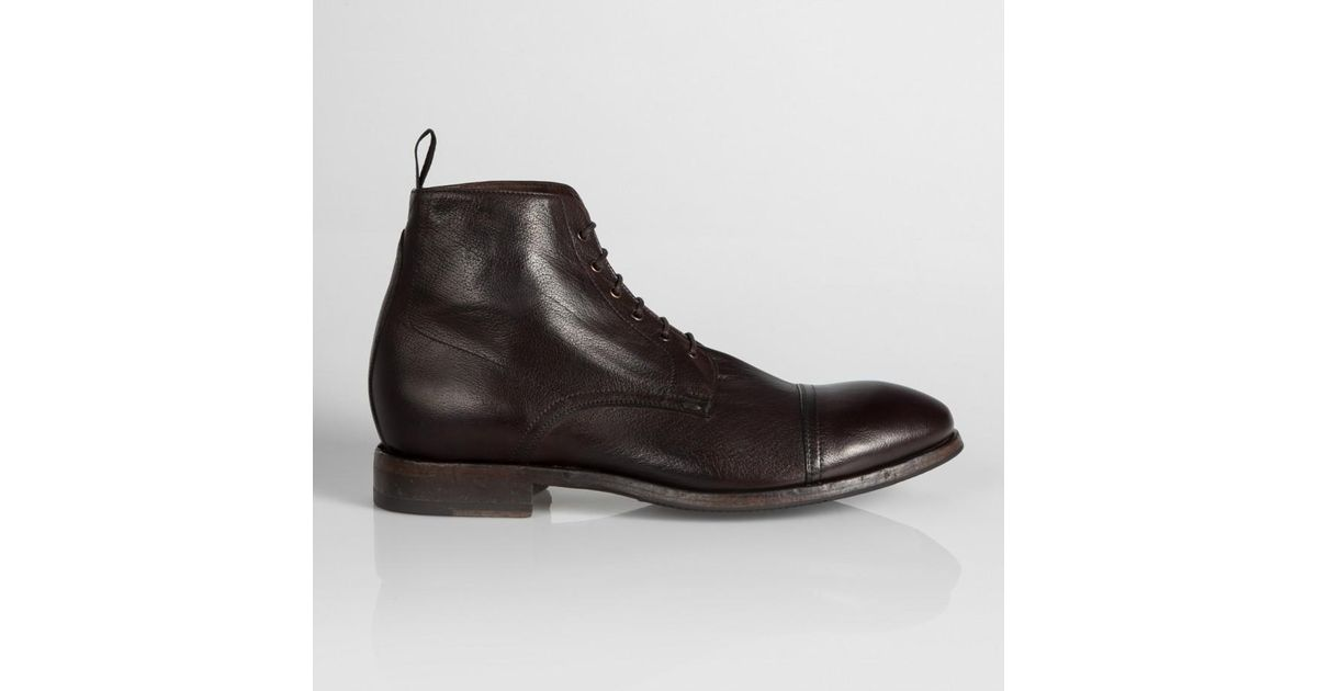 d5b8b90e9e90 Lyst - Paul Smith Dark Brown Buffalo Leather  Cesar  Boots in Brown for Men