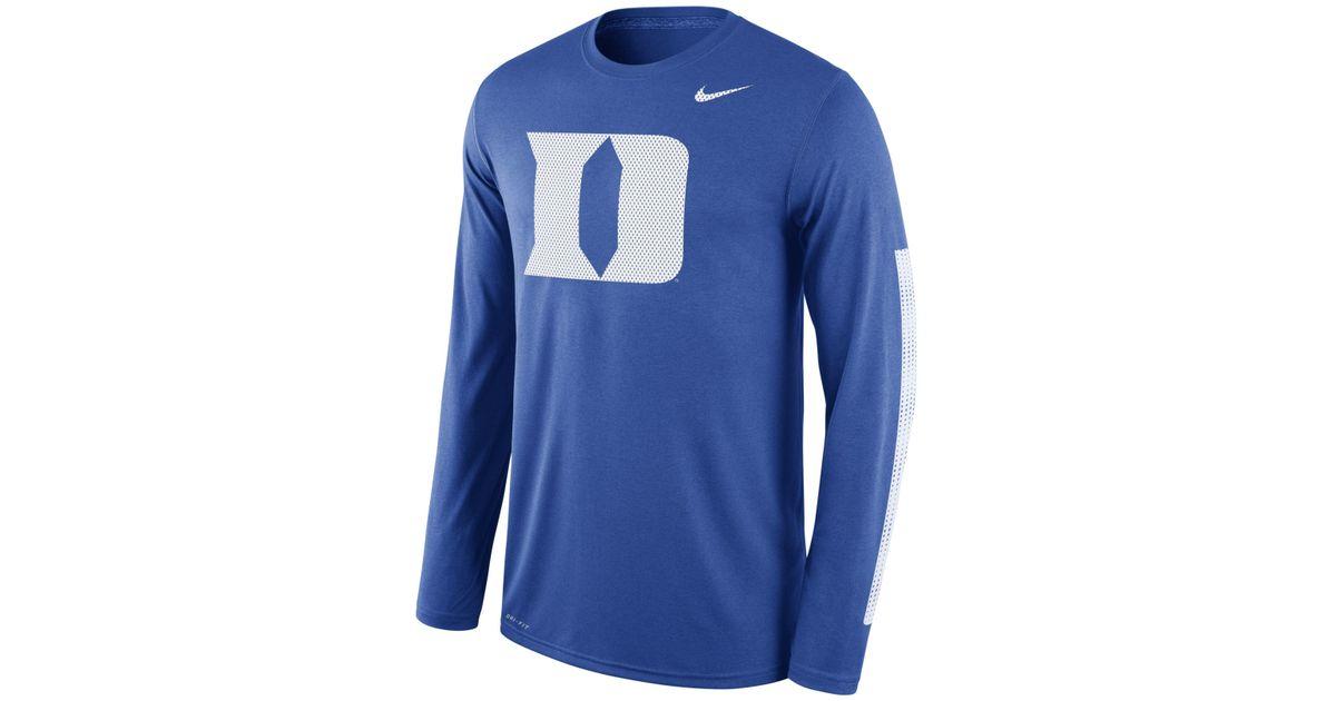 Nike Men's Long-sleeve Duke Blue Devils Legend Dna T-shirt in Blue ...