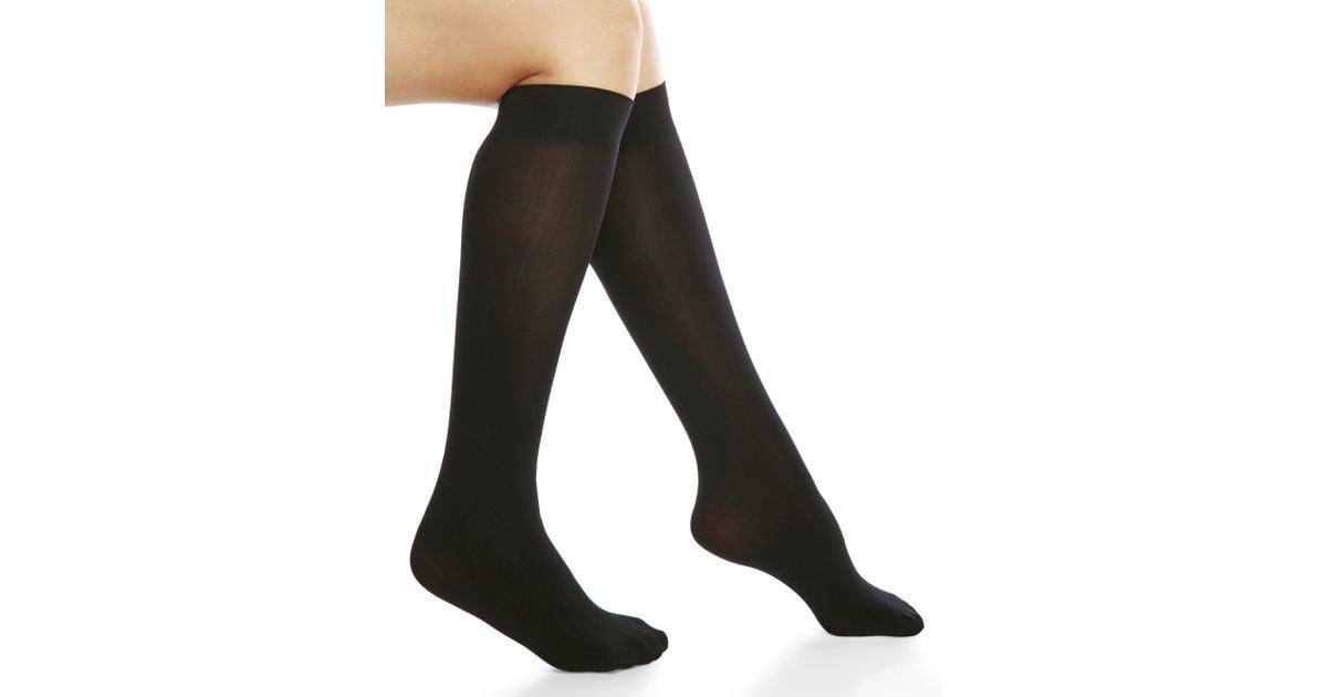 49939c49ae8 Via Spiga 3-Pack Opaque Knee-High Trouser Socks in Black - Lyst