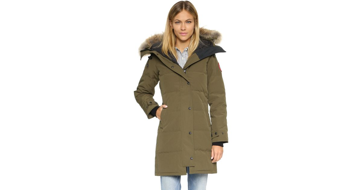 Canada Goose victoria parka outlet fake - Canada goose Shelburne Parka in Green (Military Green) | Lyst