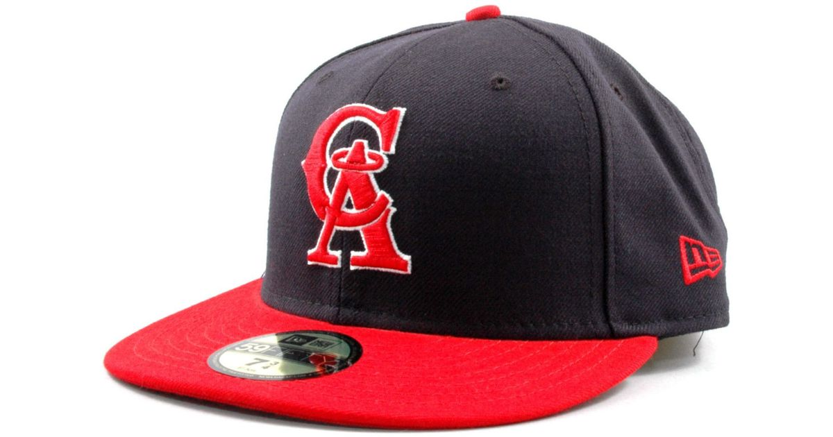653616126dd072 ... usa lyst ktz los angeles angels of anaheim mlb cooperstown 59fifty cap  in blue for men