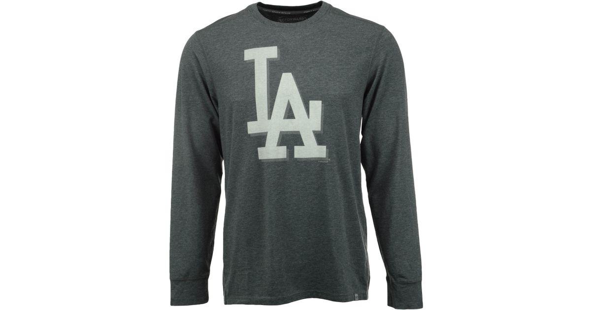47 Brand Men 39 S Long Sleeve Los Angeles Dodgers Cadence T