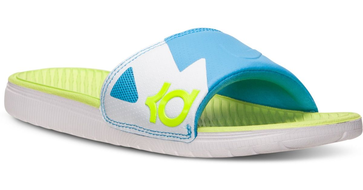 06fad5856e2c Lyst - Nike Mens Solarsoft Kd Slide Sandal From Finish Line in Blue for Men