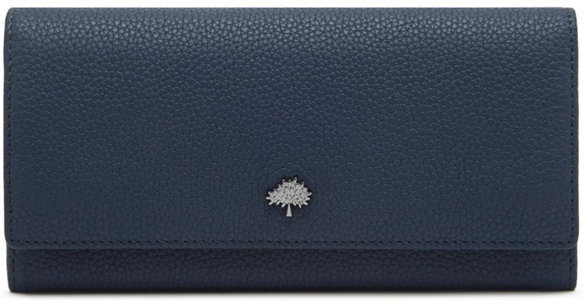 6361b1278e ... promo code for lyst mulberry tree continental wallet in blue 8c342 fdbca