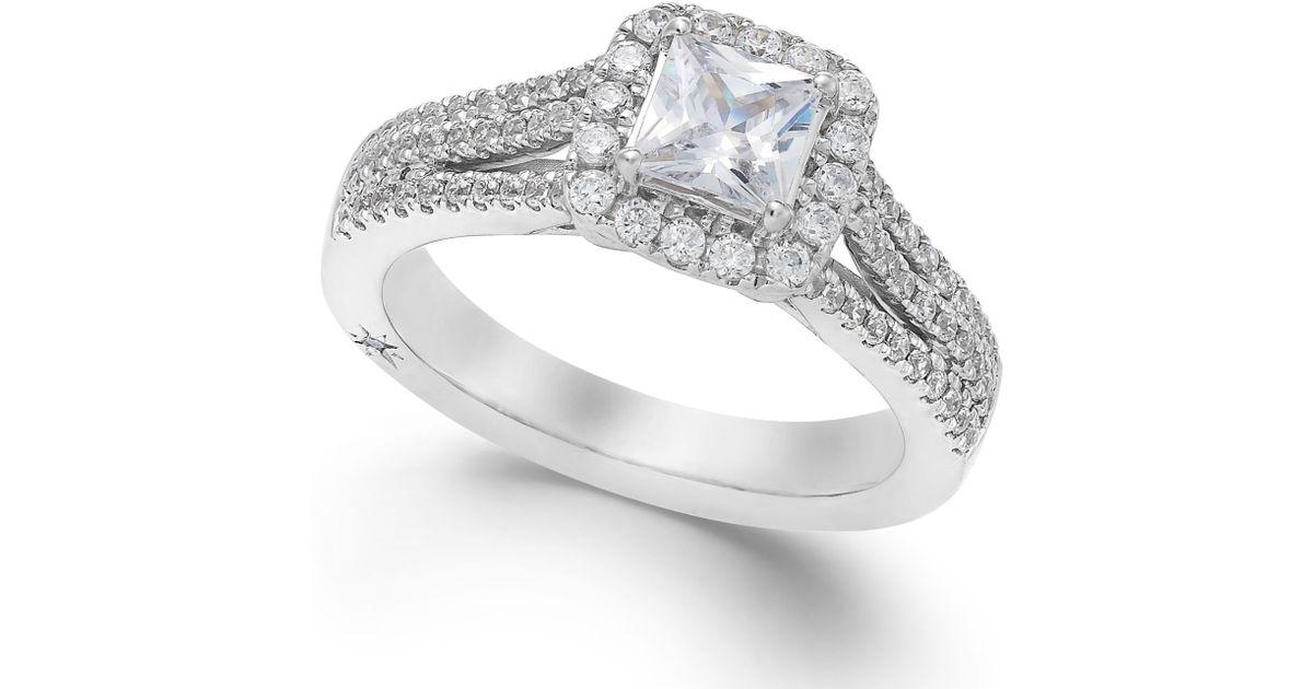 Marchesa Celeste Halo By Certified Diamond Split Shank