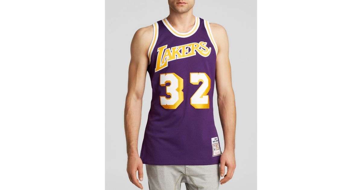 Lyst - Mitchell   Ness 1984-85 Los Angeles Lakers Authentic Jersey in Purple  for Men 7e2466679