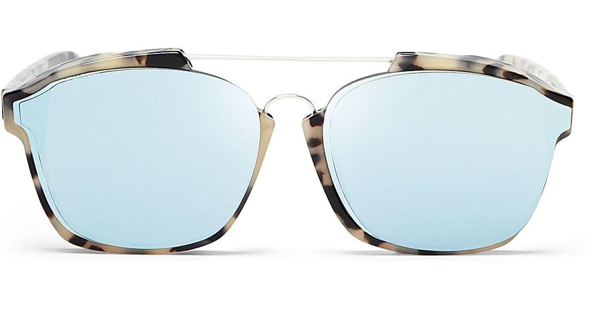 3e1f981348 Dior Abstract Square Mirrored Sunglasses in Blue - Lyst