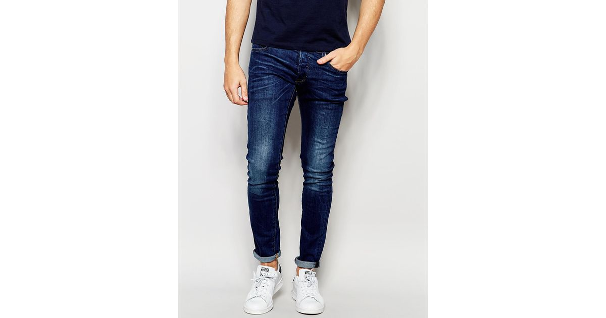 g star raw beraw jeans 3301 a super slim fit mid wash in. Black Bedroom Furniture Sets. Home Design Ideas
