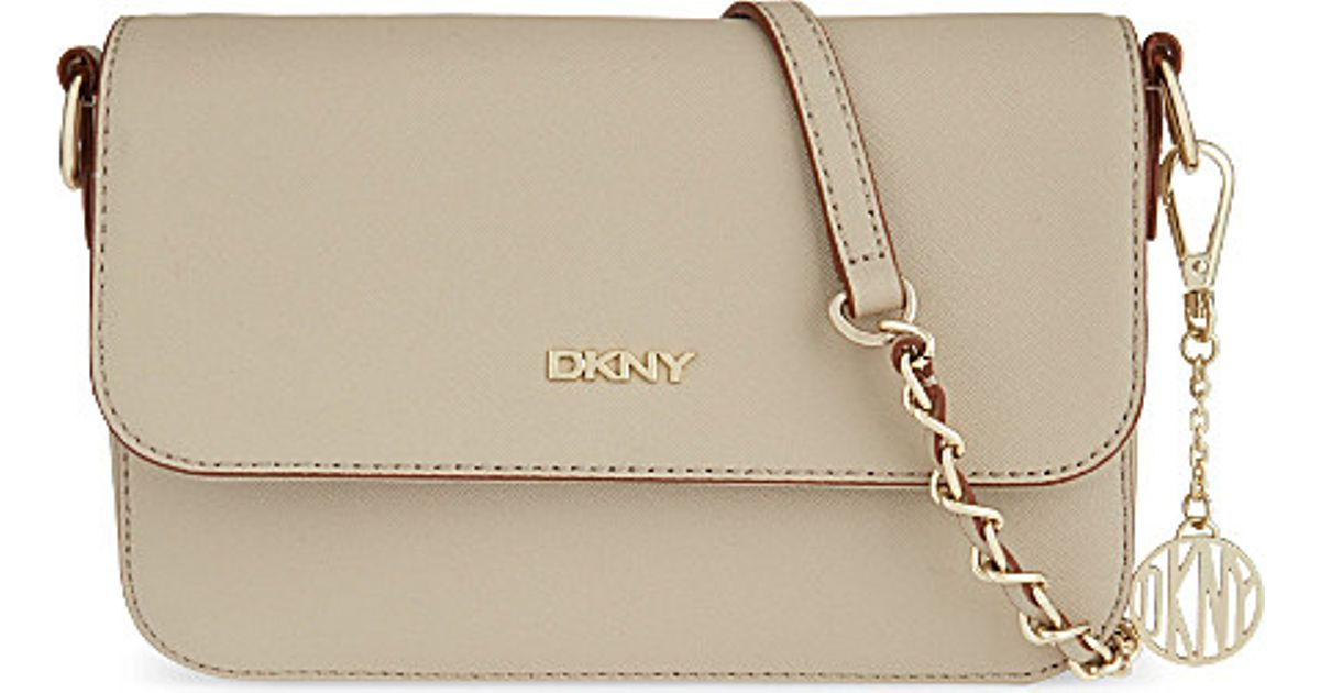 2f8064121f DKNY Bryant Park Saffiano Small Cross-Body Bag - For Women in Natural - Lyst