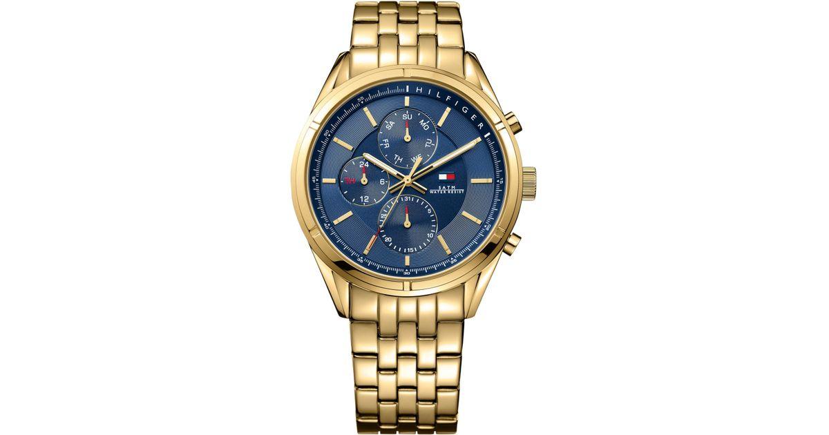 a3ad28a3 Tommy Hilfiger Men's Gold-tone Bracelet Watch 44mm 1791129 in Metallic for  Men - Lyst