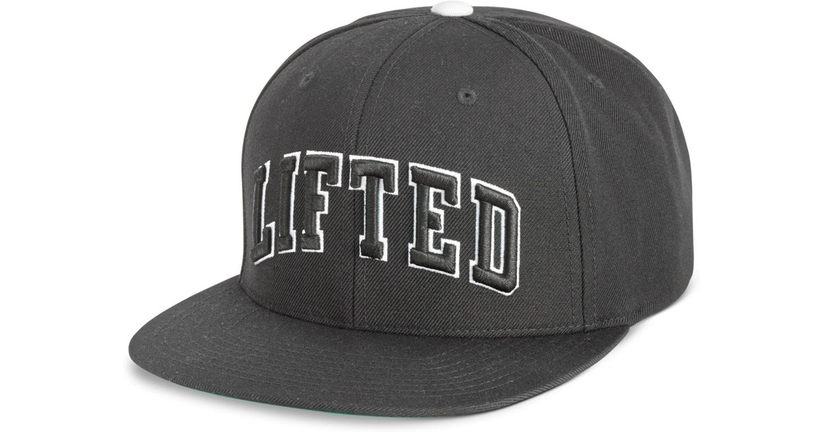 4ea017fcd0d Lyst Lrg Men S Lifted Embroidered Snapback Hat In Black For