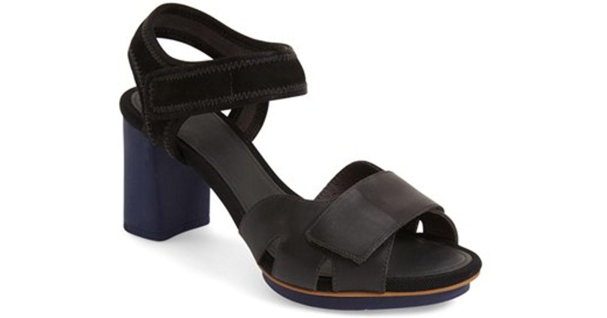 d67dacd8cec Lyst - Camper  myriam  Ankle Strap Platform Sandal in Black